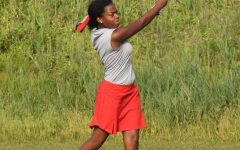 "TAKING A SWING At centennial golf course, Parkyr Guiton, senior, starts the match by hitting the ball as far as she can.  The season went really well. We had such talent on the team, and it's such a shame we didn't make it to state,"" Guiton said."