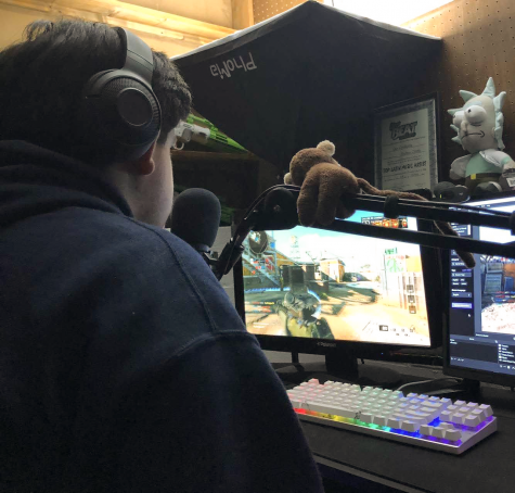"EASY STREAMING Playing Call of Duty Emilio Cantu, junior, says ""a typical stream consist of me just having a good time playing games with my friends."" Emilio streams with his friends often."