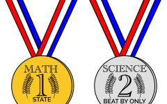 The Academic Super Bowl Math team achieved first place, and the Science team achieved second place down by one point.