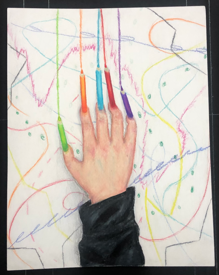 My Future Yet Mapped. Colored pencil on Bristol board.