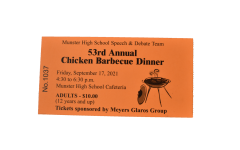 """WINNER WINNER, CHICKEN DINNER Speech and Debate students sell tickets to fundraise for the annual chicken barbeque. """"It's sort of a rite of passage for Speech and Debate students when they join the team to go out into the community and engage (with) our residents,"""" Mr. Jordan Mayer, Speech and Debate Director, said. """"With this sales drive, it brings team bonding and really connects the school to the community."""""""